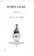 Hymne sacré, imité du russe [de Derjavin] par F.-G. Eichhoff
