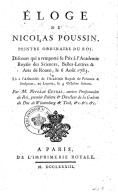 Éloge de Nicolas Poussin,... par M. Nicolas Guibal,...