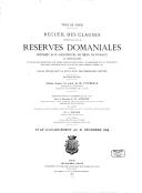 Recueil des clauses connues sous le nom de réserves domaniales, imposées aux acquéreurs de biens nationaux ou hospitaliers, et de celles consenties par divers propriétaires pour l'élargissement et le percement des voies...
