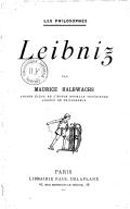 Leibniz, par Maurice Halbwachs,...