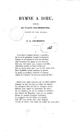 Hymne à Dieu, composé par le poète russe Derjavine, traduit en vers français par F.-G. Eichhoff