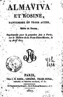 Almaviva et Rosine , pantomime en trois actes, mêlée de danses