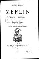 Merlin : poème breton (2e édition, revue et corrigée) / Louise d'Isole