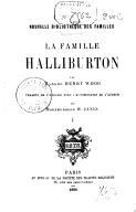 La famille Halliburton. 1 / par Mme Henry Wood ; traduit de l'anglais... par Mlle H. Janin