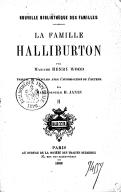 La famille Halliburton. 2 / par Mme Henry Wood ; traduit de l'anglais... par Mlle H. Janin