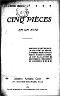 Cinq pièces en un acte / Maurice Bouchor