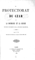 Le Protectorat du Czar... 1850
