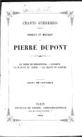 Chants guerriers... de Pierre Dupont. Le Siège de Sébastopol. Schamyl. La Plainte du Russe. Le Chant du Danube