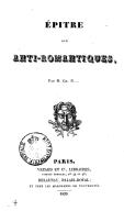 Épître aux anti-romantiques, par M. Ch. N. [Nisard.]