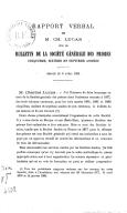 """Rapport verbal de M. Charles Lucas sur le """"Bulletin de la Société générale des prisons"""", 5e, 6e et 7e années. Séance du 5 avril 1884"""