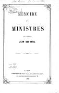 Mémoire aux ministres (sur l'emploi de l'iode naissant), par le Dr Jean Bernard