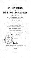 Des Pouvoirs et des obligations des jurys, par Sir Richard Phillips,... Traduit de l'anglais par M. Comte