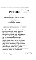 Poésies de Pierre Granier,.... Volume 1