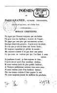 Poésies de Pierre Granier,.... Volume 3