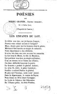 Poésies de Pierre Granier,.... Volume 2
