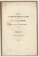 Fête au profit des inondés de la Loire... donnée dans la salle du Conservatoire, le 21 février 1847. Prologue, par M. Émile Deschamps,...