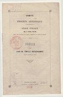 Comité du progrès artistique. Séance publique.... Poésie lue par M. Émile Deschamps,...