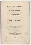 Misère et charité, poésie de M. Émile Deschamps : déclamée... à la fête donnée le 20 novembre 1860... au profit de la crèche Saint-Antoine