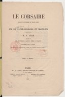 Le corsaire : ballet-pantomime en trois actes / de MM. de Saint-Georges et Mazilier ; musique de M. A. Adam
