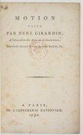 Motion faite par René Girardin à l'assemblée des amis de la constitution , imprimée suivant le voeu de cette société, etc.