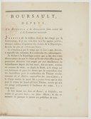 Boursault, député, en réponse à la dénonciation faite contre lui à la Convention nationale