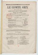 """Le comte Ory : opéra en deux actes / paroles de MM. Scribe et Delaistre-Poirson [""""sic""""] ; musique de M. Rossini"""