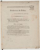 Lettre du conseiller-d'état prefet de police à MM. les maires des communes rurales du département de la Seine