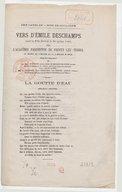Vers d'Émile Deschamps, pour la fête donnée le 30 juillet 1865 par l'Académie parisienne de Frotey-lez-Vesoul, au profit de l'oeuvre de la Commune-modèle...
