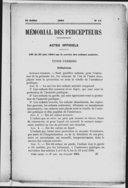 Mémorial des percepteurs et des receveurs des communes, hospices...