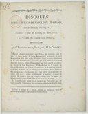Discours sur le retour de Napoléon le Grand... prononcé le jour de Pâques, 26 mars 1815 , par M. Leblanc, curé de Cosne (Nièvre)