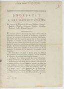 Boursault à ses concitoyens, en réponse au libelle des citoyens Godfert, Reverdy, Lenoble, L'Huillier, sculpteur, Ponson, Génisson, Guérard, Josse, Dominé Sauvat