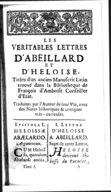 Lettres véritables d'Héloïse et Abailard, avec le texte latin à côté, traduites par l'auteur de leur vie (dom Gervaise). Tome 1