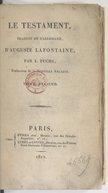 Le testament. Tome 2 / , traduit de l'allemand d'Auguste Lafontaine, par L. Fuchs,...