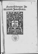 Facini Tiberge Interpretatio in Doctrinale Alexandri de Villa Dei, cum textu ejusdem