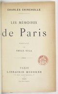 Les mémoires de Paris / Charles Chincholle ; préface par Émile Zola