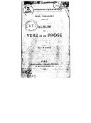 Album de vers et de prose / Paul Verlaine