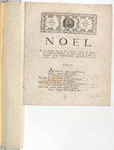 Noël , mis en musique par feu M. Giles, maître de musique de l'Eglise de Toulouse ; & chanté dans la chapelle de MM. les Pénitens blancs le 8e janvier 1756