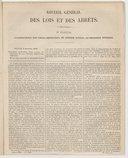 Recueil général des lois et des arrêts : en matière civile, criminelle, commerciale et de droit public... / par J.-B. Sirey