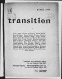 Transition / [dir. Eugene Jolas]