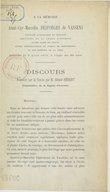 A la mémoire de Aimé-Cyr-Marcelin Desforges de Vassens, ancien maire de Chauny... décédé le 6 août 1875... Discours prononcé sur la tombe ; par M. Ernest Hébert,...