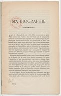 Ma biographie / [signé J. Lefebvre]