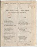 Nos bons villageois, ou Chés geins d'Anmiens, chanson picarde... paroles de Dupuis...