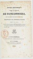 Notice historique sur la ville de Coulommiers... suivie du procès du nommé Abel De La Rue... exécuté... le 23 juillet 1582