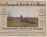 Portfolio-photo-couleurs. Les champs de bataille de la Marne, récit technique et documenté . Photographies directes en couleurs et texte de Gervais-Courtellemont