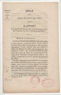 Sénat. Séance du jeudi 8 juin 1854. Rapport fait par M. Dumas, au nom de la commission chargée d'examiner la loi sur l'instruction publique