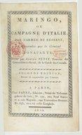 Marengo, ou Campagne d'Italie par l'armée de réserve commandée par le général Bonaparte , écrite par Joseph Petit,... Seconde édition, revue et augmentée par l'auteur