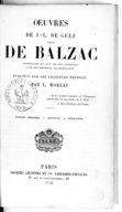 Oeuvres de J.-L. de Guez, sieur de Balzac,.... T. 2 / publiées sur les anciennes éditions par L. Moreau