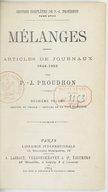 Oeuvres complètes de P.-J. Proudhon. Tome 18