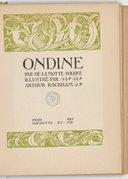 Ondine / par de La Motte-Fouqué ; illustré par Arthur Rackham