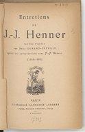 Entretiens de J.-J. Henner / notes prises par Émile Durand-Gréville, après ses conversations avec J.-J. Henner (1878-1888)